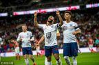 [高清組圖]斯特林戴帽凱恩點射 英格蘭5-0捷克