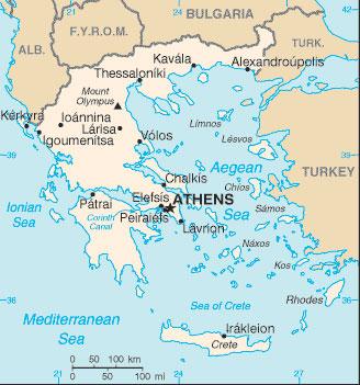 希腊和土耳其地图(来源:网络)