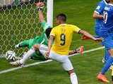 [世界杯]哥伦比亚开角球发前点 古铁雷斯抢点破门