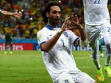 [世界杯]希腊队终场前得点球 萨马拉斯一蹴而就