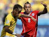 [世界杯]1/8决赛:巴西1(3)-1(2)智利 比赛集锦