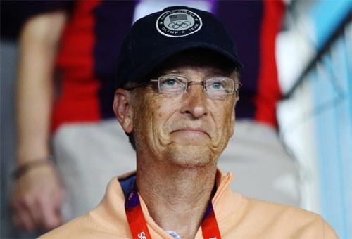 7月30日 出现在伦敦奥运会乒乓球比赛观众席上的比尔盖茨