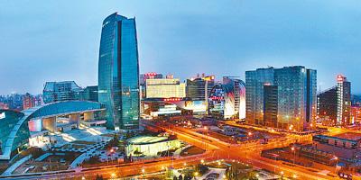 中关村_北京中关村广场夜景.