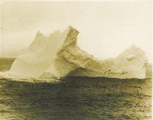 撞沉泰坦尼克号冰山照将拍卖预计至少8000美元