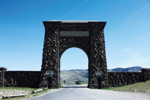 黄石地质公园北大门