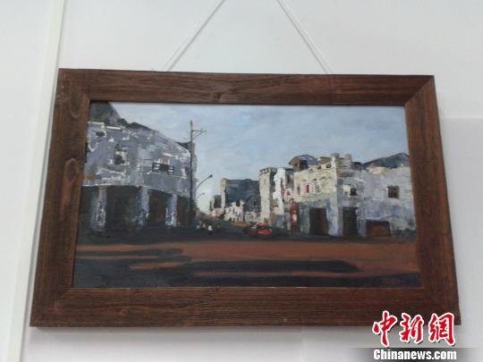 图为展出的作品《骑楼老街?博爱南》。宋将 摄