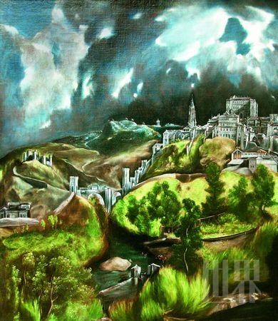 格列柯的名画《托莱多的风景》