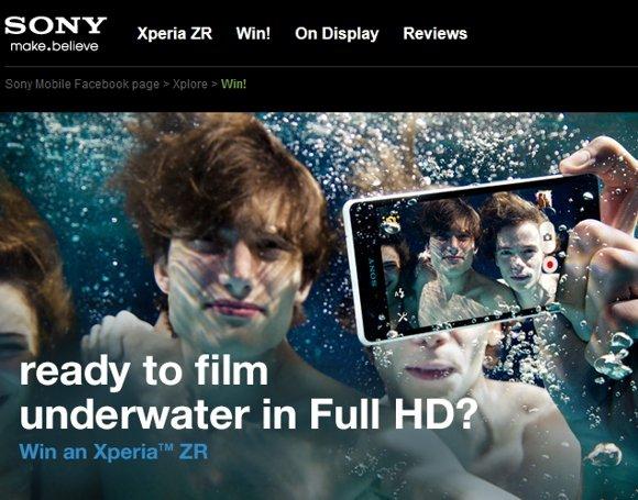 索尼最强防水手机Xperia ZR售价公布 约3790元