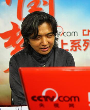 吴为山与网友进行在线交流