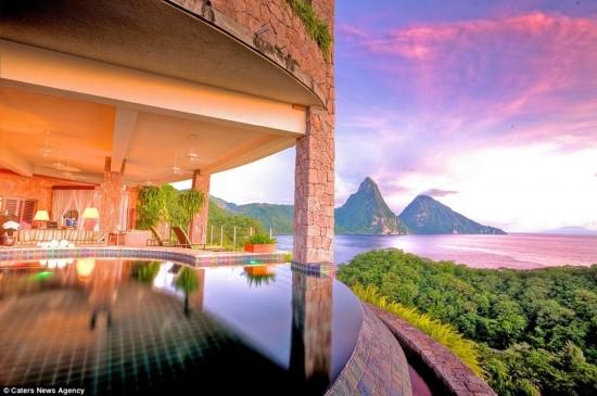 加勒比海的玉山酒店