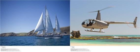 袋鼠岛航海、直升飞机游览