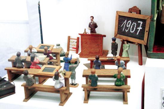 1907年的教室模型