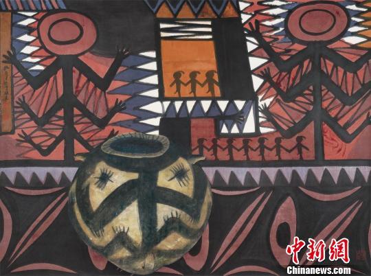 家园之二 纸本水墨 181cm×241cm 2003年 中国美术馆藏 应妮 摄