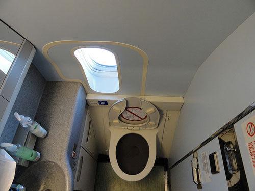 飞机着陆后也能上洗手间
