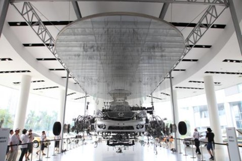 9月9日,车主们参观东风日产总部