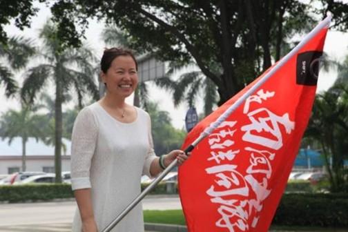 数字营销部部长郭伟主持了发车仪式,并为活动挥旗助威——南线活动正式启动