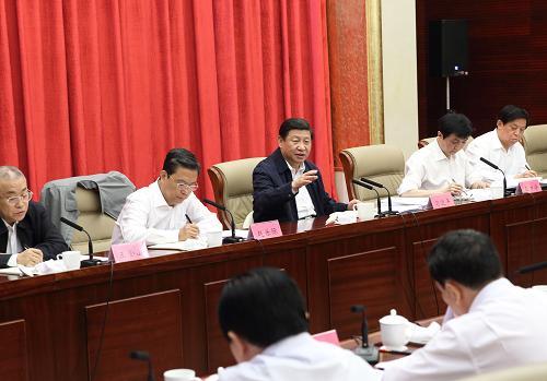 这是9月25日上午,习近平在河北省委常委班子专题民主生活会上讲话。记者 兰红光 摄