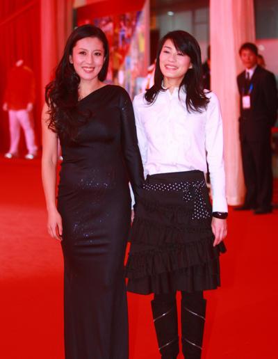 杨扬在2010年体坛风云人物颁奖盛典上。