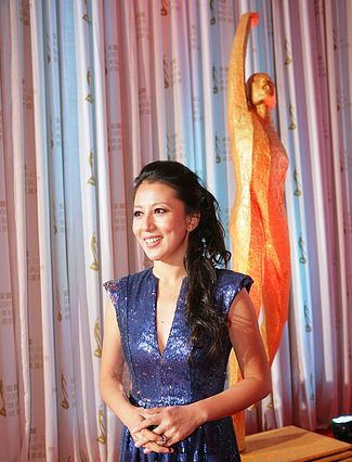 杨扬在2009年体坛风云人物颁奖盛典上。