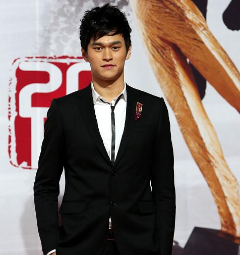 孙杨在2012年体坛风云人物颁奖盛典上。