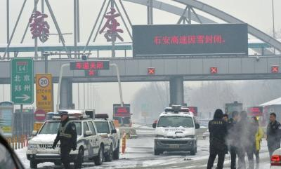 大部地区受降雪影响 90条高速公路封闭