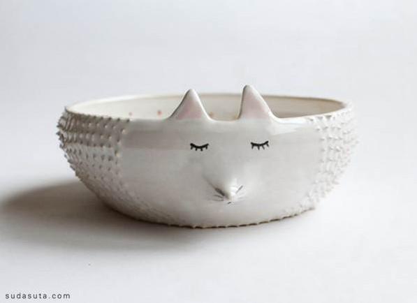 创意动物造型陶瓷碗 萌你没商量