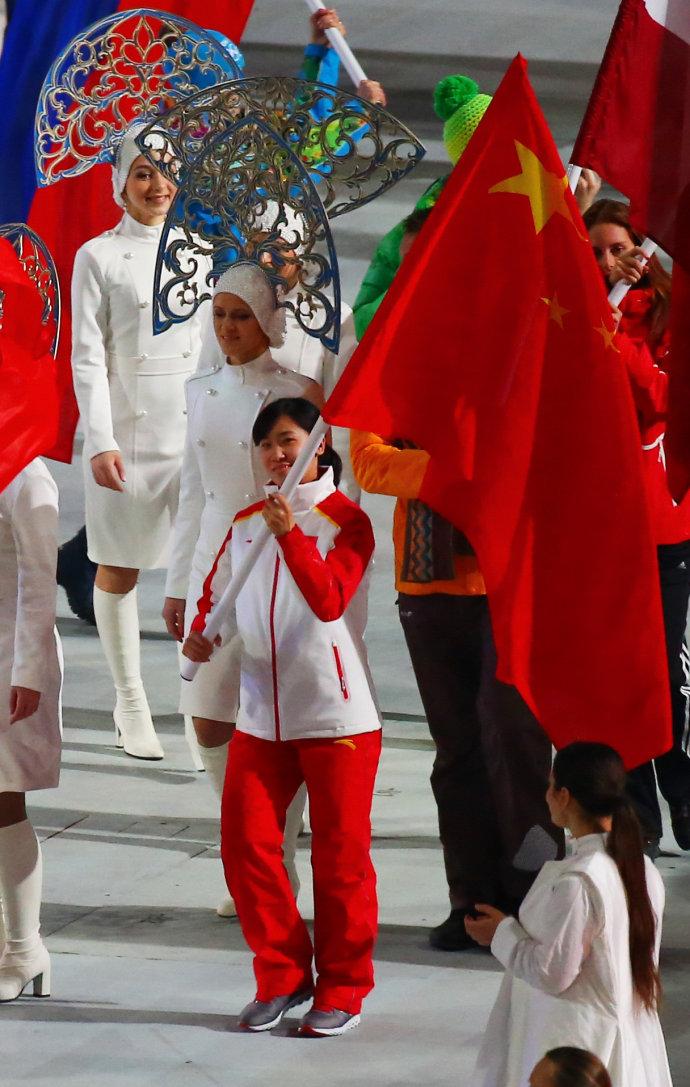 刘秋宏在冬奥会闭幕式上
