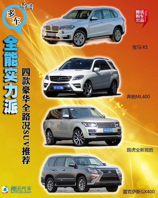 四款豪华全路况SUV车型推荐 全能实力派