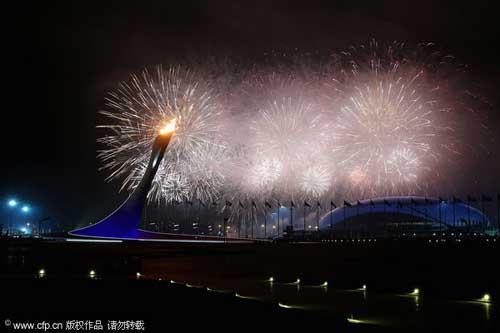 [高清组图]索契残冬奥会开幕 中国健儿征战两大项  3秒 6秒 9秒 播放收藏分享