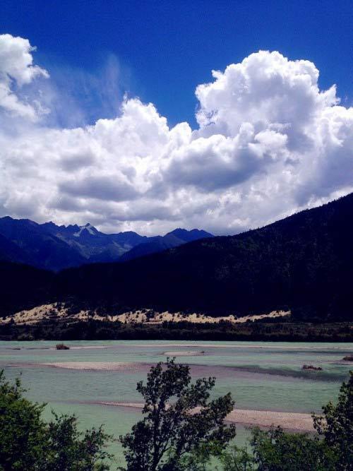 蓝天 白云 绿树 清泉