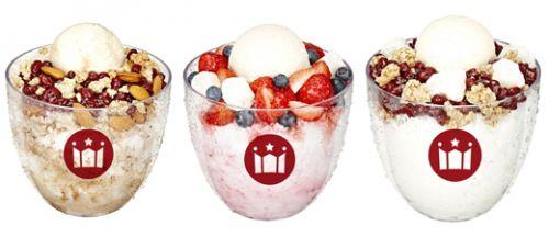 韩国消暑利器:各式红豆冰沙