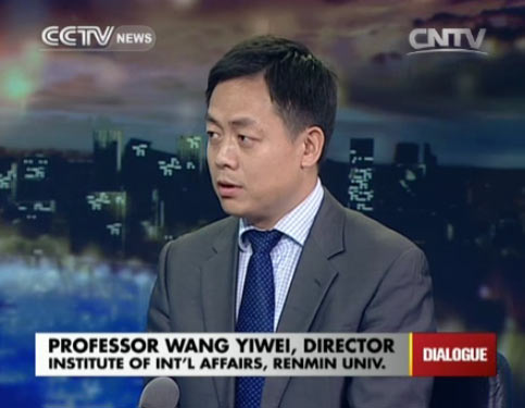 Professor Wang Yiwei, director of Institute of Int
