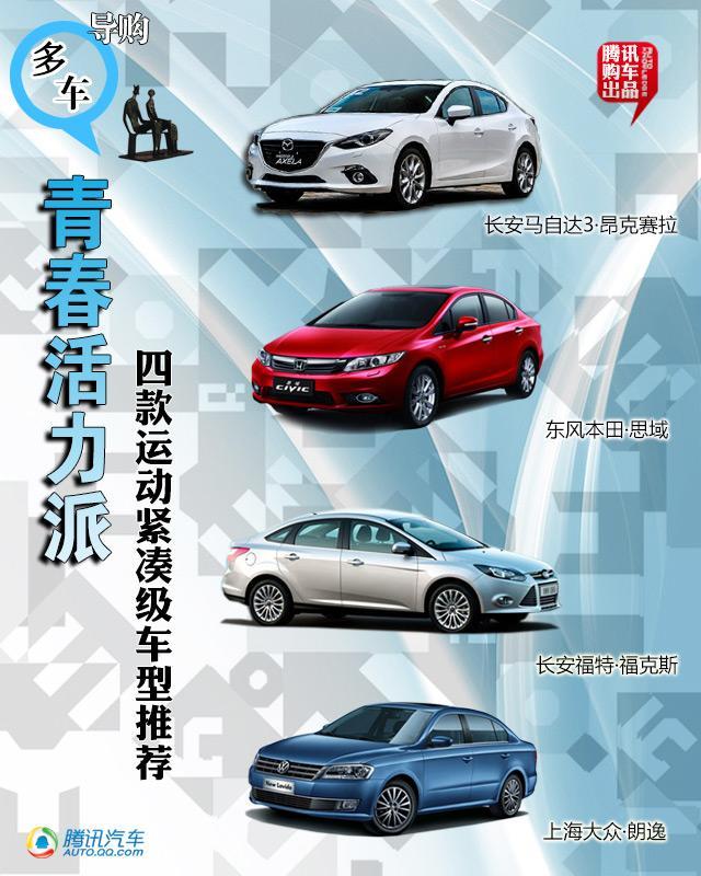 四款运动紧凑级车型推荐 青春活力派