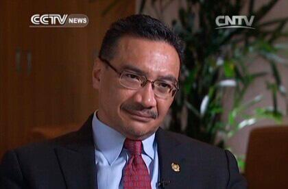 Malaysian Defense Minister Hishammuddin Hussein