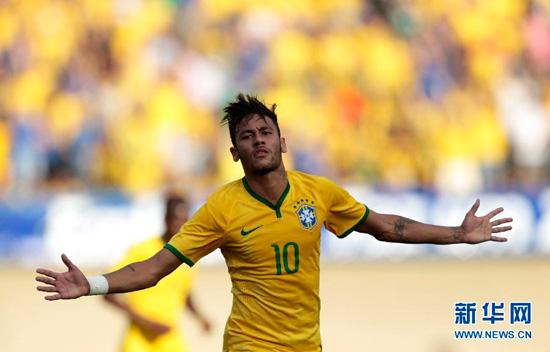 Neymar showed he is ready for the World Cup by inspriring Brazil to a swaggering 4-0 warm-up win over Panama.