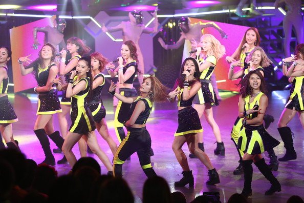 Japanese pop group E-girls perform onstage during MTV Video Music Awards Japan 2014 at Maihama Amphitheater on June 14, 2014 in Urayasu, Japan. (Ken Ishii/Getty Images)