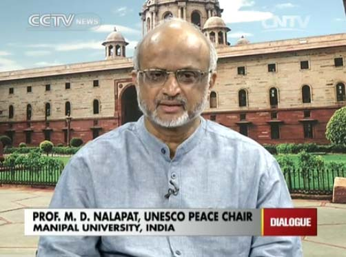 Professor M. D. Nalapat,  UNESCO Peace Chair of Manipal University, India