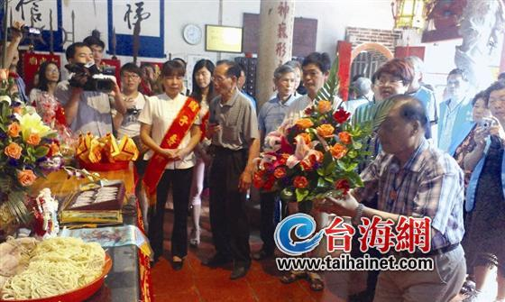 台湾新竹的信众到古武庙朝拜