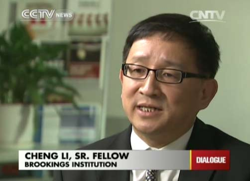 Cheng Li, Sr. Fellow of Brookings