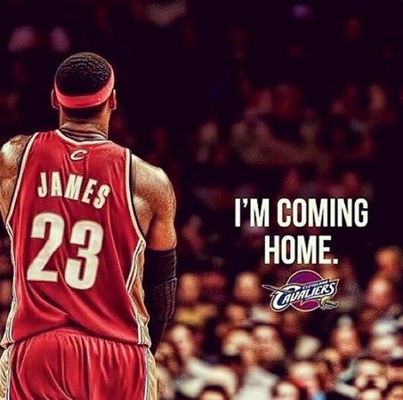 詹姆斯个人正式宣布回骑士 皇帝:我回家了(图)