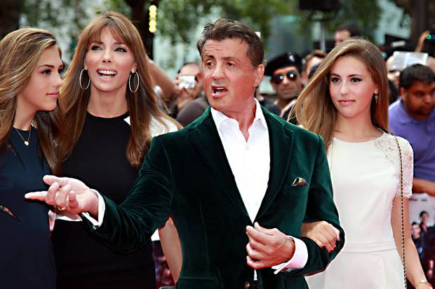 Hollywood hard-man Sylvester Stallone was in London