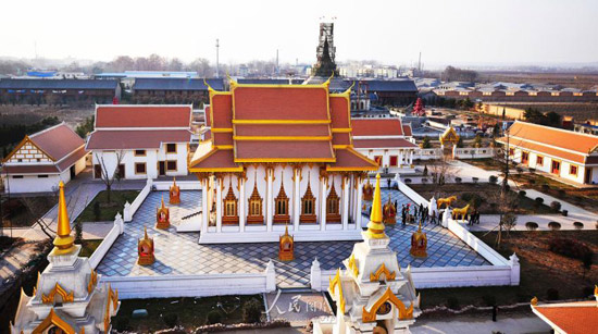A special area to house this collection has been set up at the site of the 2,000-year-old White Horse Temple in Luoyang, Henan province. One of them is in the Thai-style.