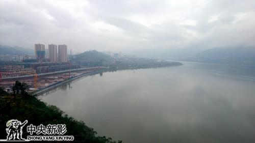 开县新城滨湖景观一角