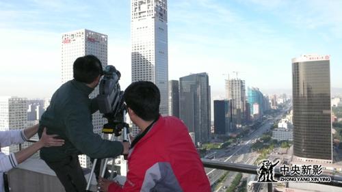 《长安街》摄制组拍摄中国第一街街景