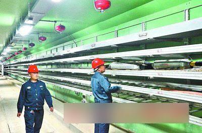 ■工作人员正在地下管廊内部巡查。