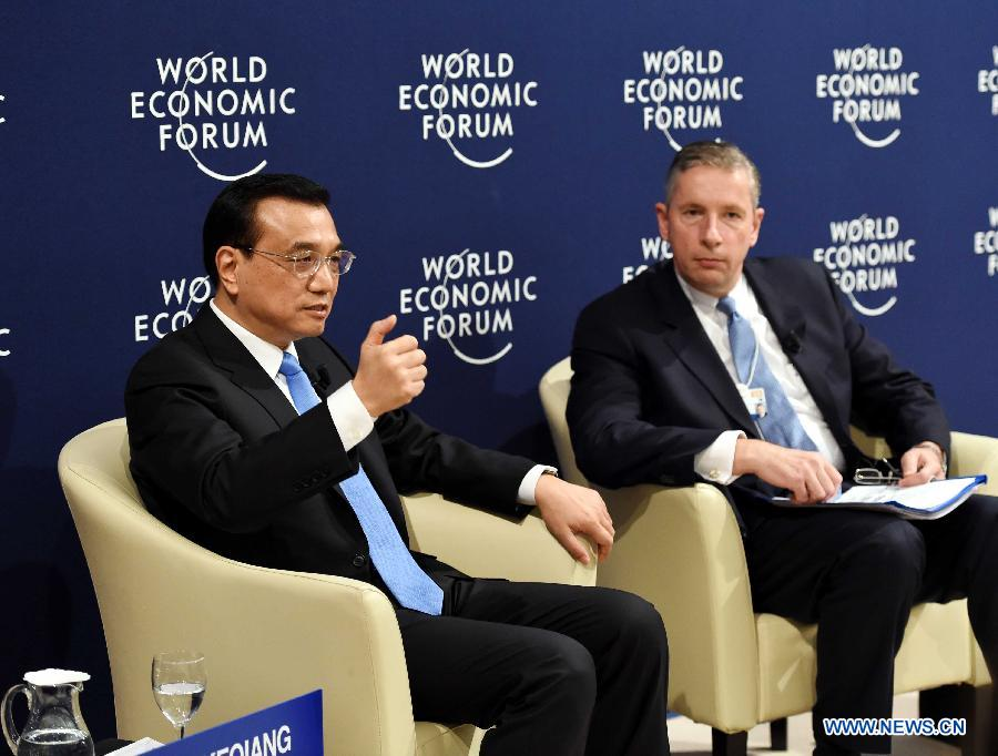Ли Кэцян принял участие в диалоге с представителями Международного делового совета ВЭФ
