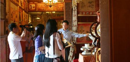 咖啡博览馆里展出的咖啡制作器皿