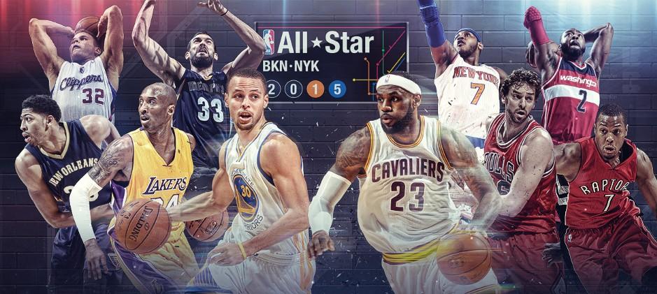 NBA全明星先发公布 库里票王 詹姆斯科比入围图片