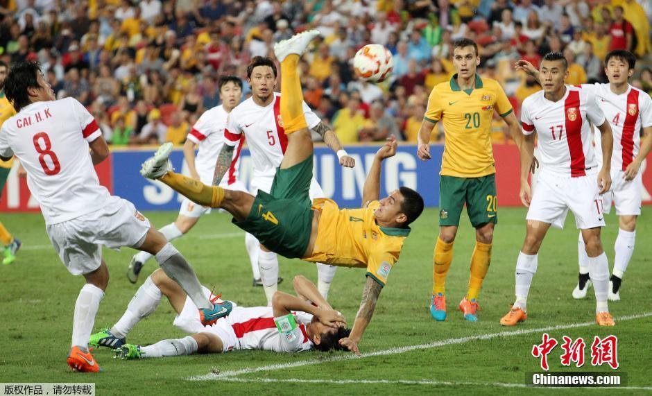 В четвертьфинале сборная Китая по футболу проиграла команде Австралии