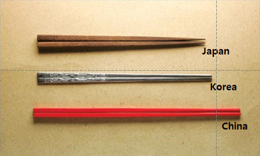 漲姿勢:中日韓筷子的區別